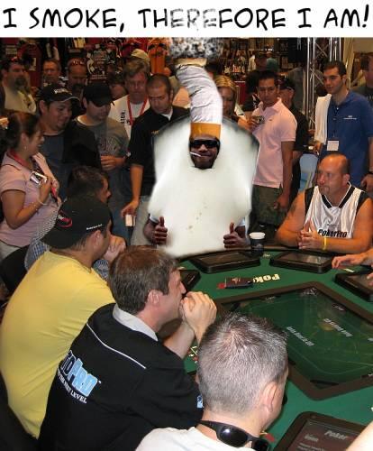 курение и покер